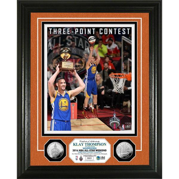 Klay Thompson 2016 Three-Point Contest Champion Silver Coin Photo Mint 17750521