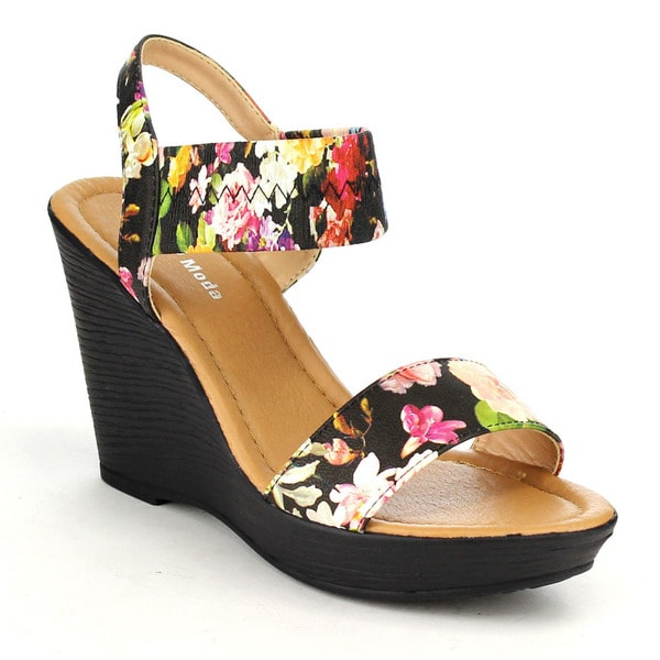 Beston Cc20 Elastic Strap Wedge Sandals