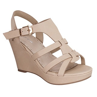 Beston Cc12 Strappy Wedge Sandals