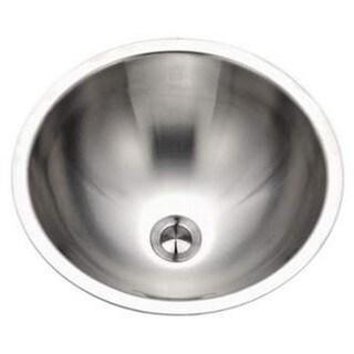 Houzer Opus Undermount Steel Bathroom Sink CR-1620-1 Stainless Steel
