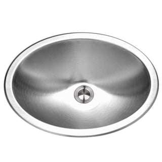 Houzer Opus Drop In Steel 13.560 17.750 Bathroom Sink CHT-1800-1 Stainless Steel