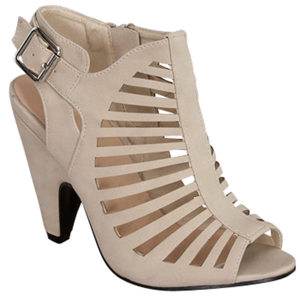 Beston Cb93 Women's Mid Heel Peep Toe Cut Out Cage Style Sandals