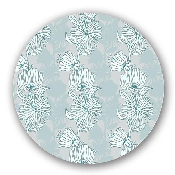 Blue/ Green Floral Custom Printed Lazy Susan