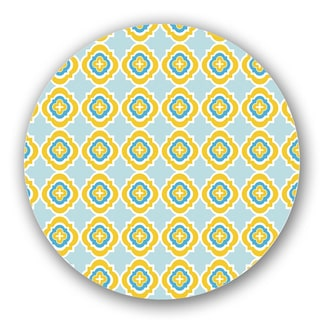 Blue/ Yellow Custom Printed Lazy Susan