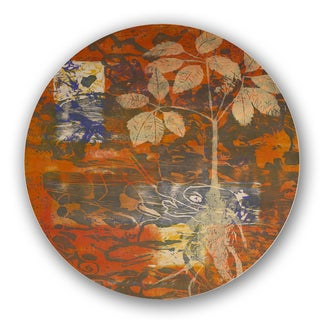 Gold/ Orange/ Brown Custom Printed Lazy Susan