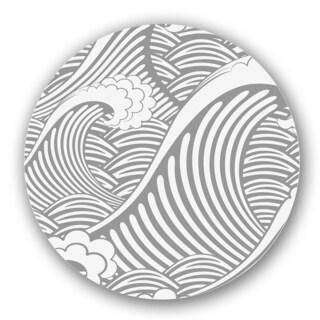 Grey/ Off-white Custom Printed Lazy Susan