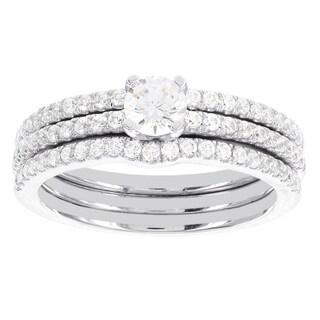 H Star 14k White Gold 1ct TDW Diamond 2-band Bridal Ring Set (I-J, I2-I3)