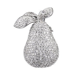 Collette Z Sterling Silver Cubic Zirconia Pear Pin