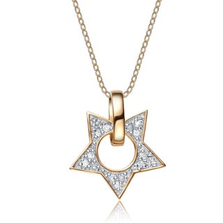 Collette Z Sterling Silver Cubic Zirconia Open Star Necklace