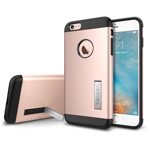 Spigen Slim Armor Case with Kickstand for Apple iPhone 6 Plus / iPhone 6s Plus Rose Gold