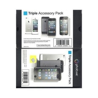 Photive Triple Accessory Pack Bumper and Screen Protector for Apple iPhone 5 5S
