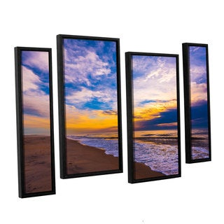 ArtWall Steve Ainsworth's 'The Long Way' 4-piece Floater Framed Canvas Staggered Set