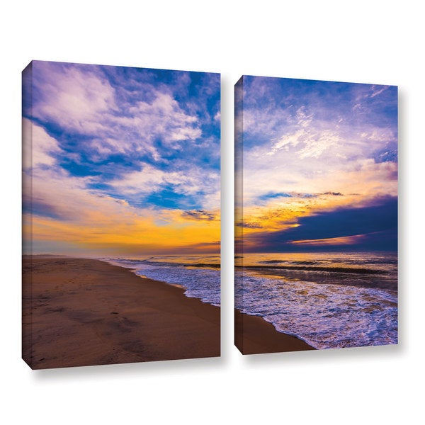 ArtWall Steve Ainsworth's 'The Long Way' 2-piece Gallery Wrapped Canvas Set