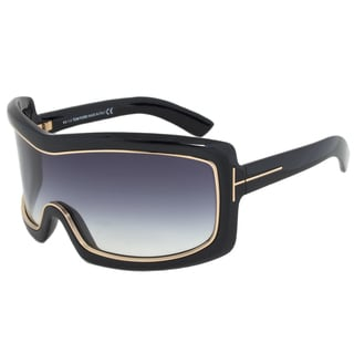 Tom Ford FT0305 01B Olga Oversized Shield Sunglasses
