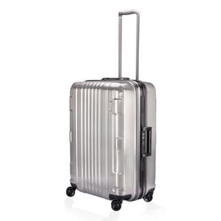 Lojel Kozmos Frame 26-inch Medium Metal Silver Hardside Upright Spinner Suitcase