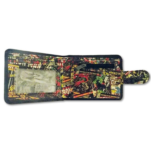 Marvel Comics Black Inside Print Wallet