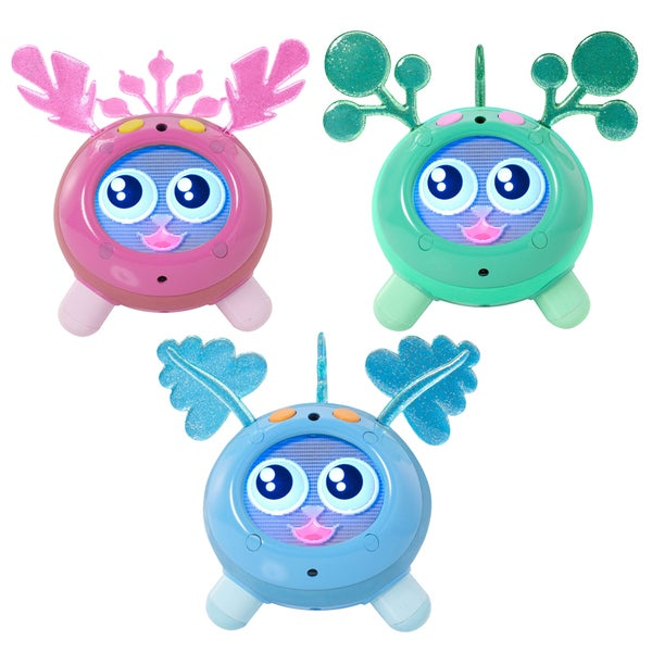 Fijit Friends Yippits Scooch Figure Blue, Pink and Light Green Kit