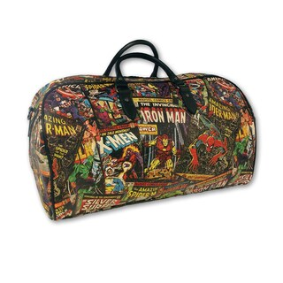 Marvel Comic Black 19-inch Carry-on Weekender Satchel Tote Bag