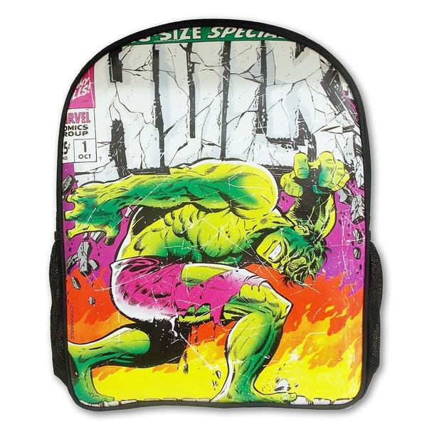 Marvel Comic Close Up Hulk Backpack 17761179