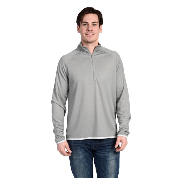 Stanley Men's Long-Sleeve Heathered Mesh Quarter Zip Performance Top