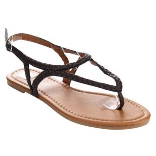 Olivia Miller Yh-239065 Women's Braided Thong Sandals
