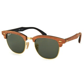Ray-Ban Clubmaster Wood RB 3016M 118158 Walnut Clubmaster Plastic 51mm Sunglasses