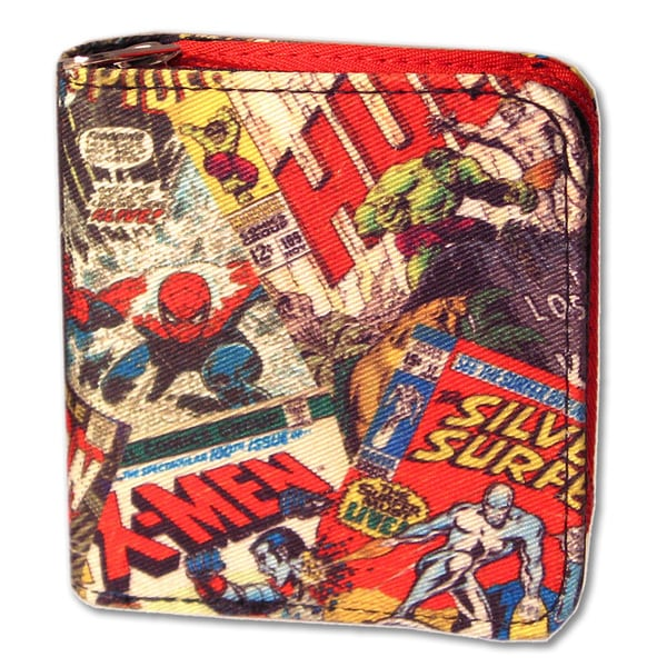 Marvel Comic Retro Zip Wallet