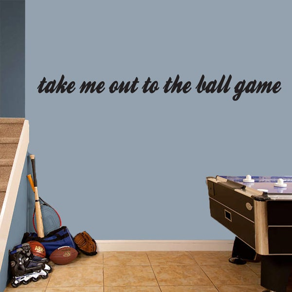 Take Me Out To The Ball Game' 65 x 7-inch Wall Decal