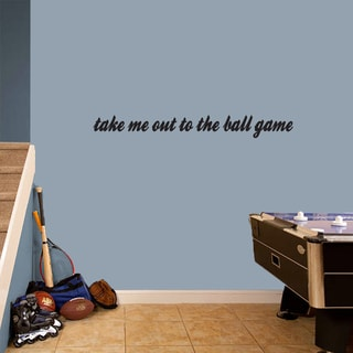 Take Me Out To The Ball Game' 44 x 5-inch Wall Decal