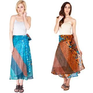 Flower Festival Bohemian Wrap Skirt (Nepal)