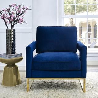 Emory Navy Velvet Chair