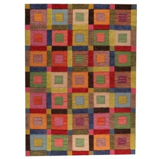 M.A.Trading Hand-woven Big Box Multicolored Rug (8'3 x 11'6)