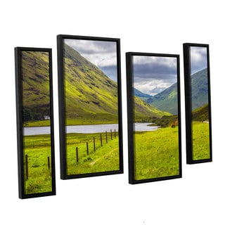 ArtWall Steve Ainsworth's 'At Home In The Mountains' 4-piece Floater Framed Canvas Staggered Set