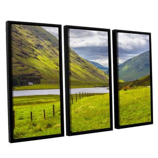 ArtWall Steve Ainsworth's 'At Home In The Mountains' 3-piece Floater Framed Canvas Set
