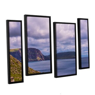 ArtWall Steve Ainsworth's 'Above The Blue' 4-piece Floater Framed Canvas Staggered Set