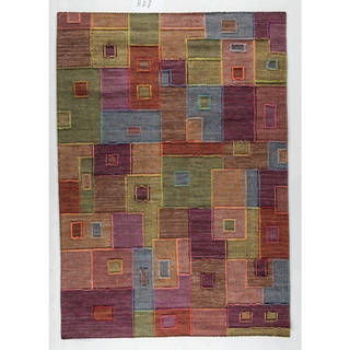 M.A.Trading Hand-woven Khema8 Multicolored Rug (9' x 12')