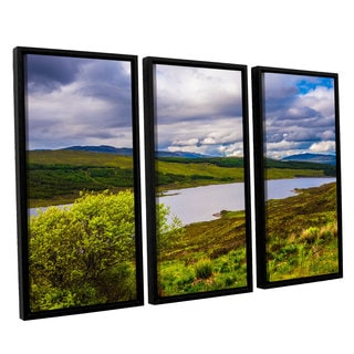 ArtWall Steve Ainsworth's 'A Highland Jewel' 3-piece Floater Framed Canvas Set
