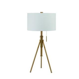 "Mid-Century Adjustable Tripod Matte Gold 32.5""-37.5"" Table Lamp"