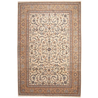 Herat Oriental Persian Hand-knotted 1940s Semi-antique Kashan Wool Rug (10'2 x 15')