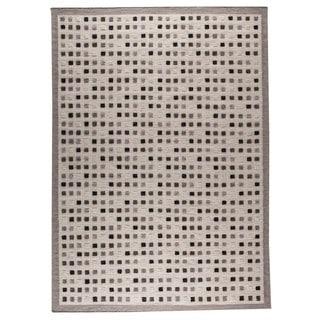 Hand-woven Khema1 Grey Rug (9' x 12')