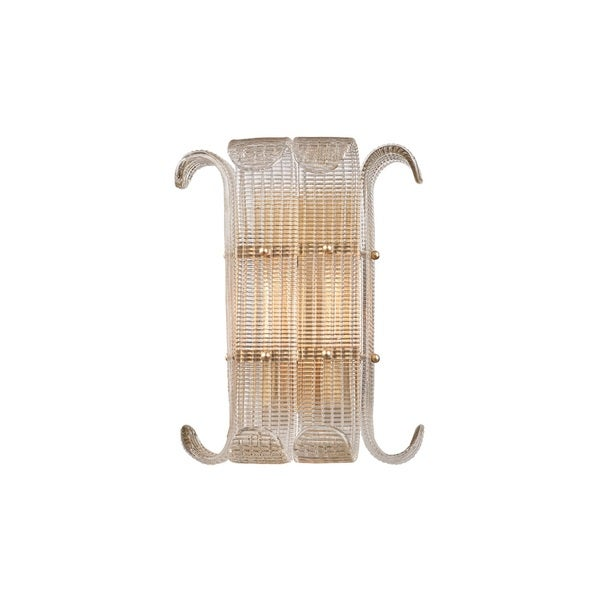 Hudson Valley Brasher 2-light Aged Brass Wall Mount