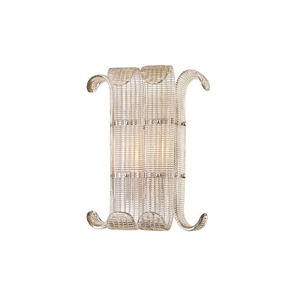 Hudson Valley Brasher 2-light Polished Nickel Wall Mount