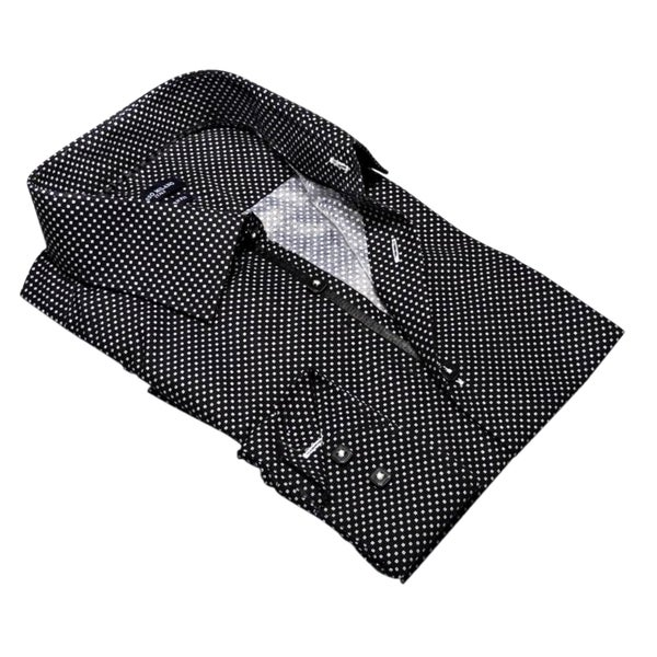 Rosso Milano Micro Polka Dot Dress Shirt