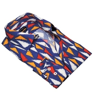 Rosso Milano Abstract Triangle Dress Shirt