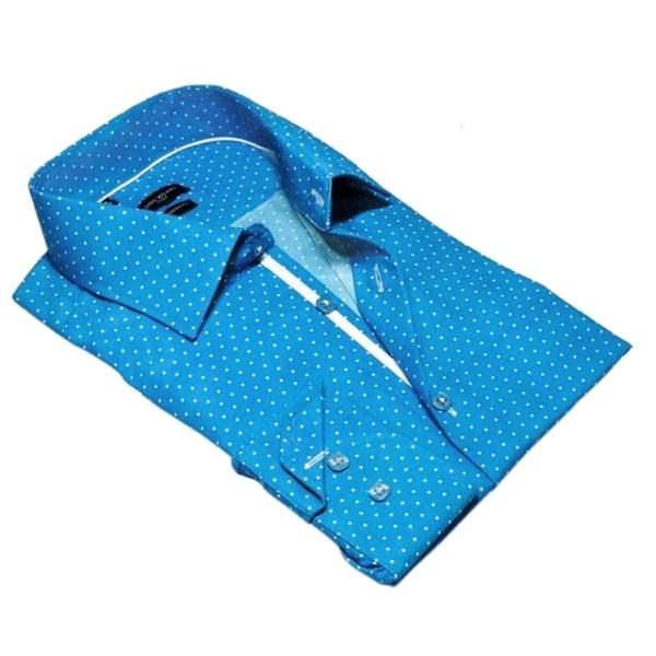Rosso Milano Polka Dot Dress Shirt