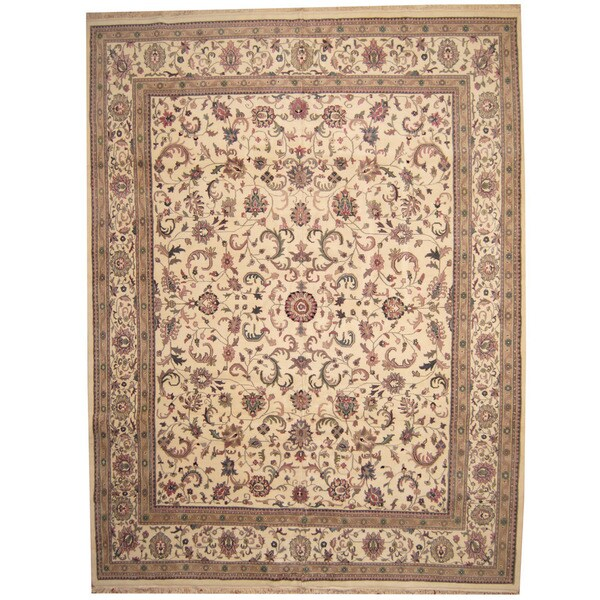 Herat Oriental Indo Persian Hand-knotted Kashan Wool Rug (11'9 x 15'4) 17762834