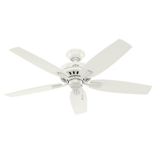 "Hunter Fan Newsome Collection Fresh White with Light Oak Reversible Blades 52"" Ceiling Fan"