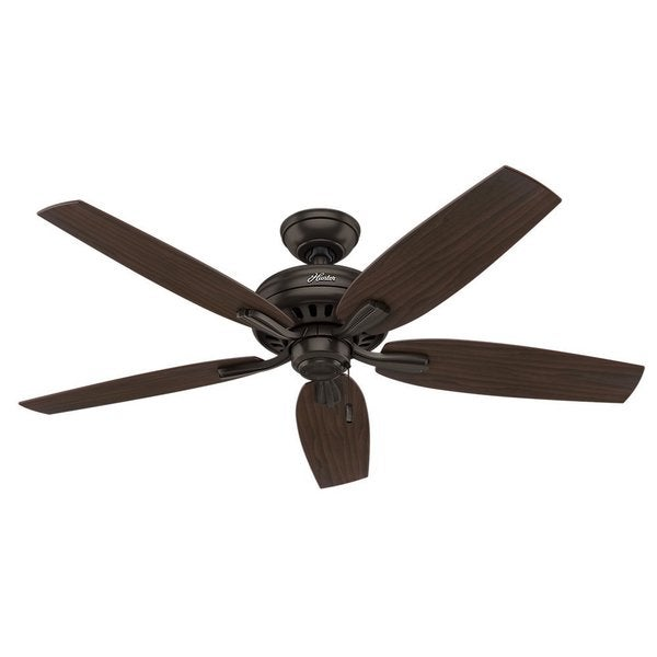 """Hunter Newsome Collection Bronze and Roasted Walnut 52"""" Ceiling Fan 17763063"""