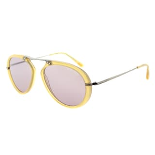 Tom Ford Aaron TF 473 39Y Shiny Yellow Aviator Plastic Sunglasses