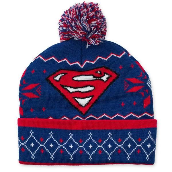 Superman Pom Pom Beanie